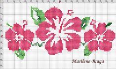 aloha Hawaiian cross stitch pattern