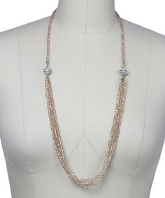 Look at this Champagne Austrian Crystal Simply Long Necklace on #zulily today!