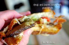 Steak and Bacon Panini with Guacamole