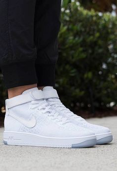 air force 1 flyknit high white