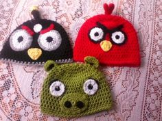 Mary's Moxee: angry bird beanies