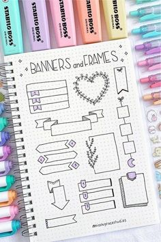 Bullet Journal School, Bullet Journal Paper, Bullet Journal Headers, Bullet Journal Lettering Ideas, Journal Fonts, Bullet Journal Notebook, Bullet Journal Ideas Pages, Bullet Journal Inspiration, Bullet Journal Decoration