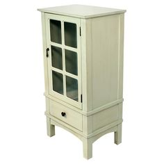 """$130 at wayfair. 36"""" H x 18"""" W x 13"""" D Could we make a solid door for this?  You should see this Alex Cabinet in Light Green on Daily Sales!"""
