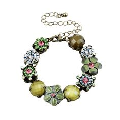 Dream Flowers Antiquity Burnish Pendant Bracelet