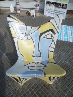 Bancarte: Banco de Federico Bacher en la plaza de la Madre teresa de calcuta - Buenos Aires