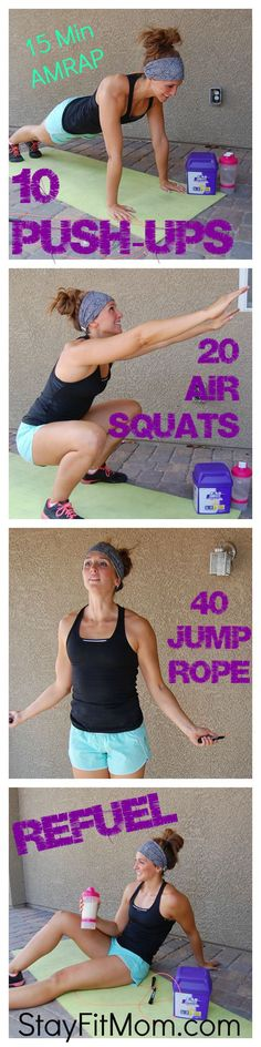 Love these at home workouts from Stayfitmom.com! #PowerInProtein #Ad