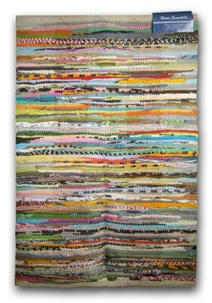 Home Essentials Rag Rug For Kitchen, Bathroom, Entry Way, Laundry Room for sale online Kitchen Area Rugs, Braided Rugs, Cool Rugs, Woven Rug, Rug Making, Fiber Art, 1 Piece, Maya, Stripes