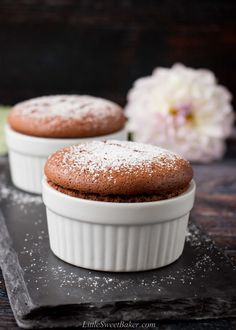 Chocolate Souffle - Easy Foolproof Method - Little Sweet Baker - This decadent chocolate souffle is dark and intense in flavor, yet light and silky in texture. Fun Baking Recipes, Sweet Recipes, Cookie Recipes, Pastry Recipes, Souffle Recipes, Bon Dessert, French Desserts, French Pastries, Smoothie Recipes