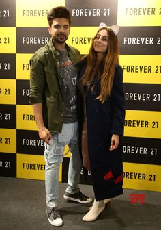 Forever 21 Debuts in Amritsar Popular TV celebs Karan Kundra and VJ Anusha Dandekar inaugurate the new store Anusha Dandekar, Karan Kundra, Amritsar, Love Couple, Press Release, Social Platform, Military Jacket, Adorable Couples, Forever 21
