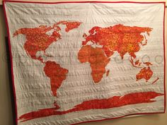 World Map Quilt Pattern.World Map Quilt