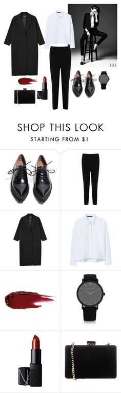 """Untitled #3"" by polinakoltz ❤ liked on Polyvore featuring Jeffrey Campbell, Karen Millen, Monki, Zara, Larsson & Jennings, NARS Cosmetics, Coccinelle, women's clothing, women's fashion and women"