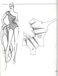 Easy Sewing Patterns, Sewing Tutorials, Clothing Patterns, Vintage Patterns, Swimsuit Pattern, Bra Pattern, Techniques Couture, Sewing Techniques, Barbie Vintage