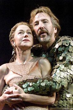 Alan Rickman & Helen Mirren in the play Antony and Cleopatra - 1998