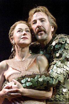 Alan Rickman & Helen Mirren in the play Antony and Cleopatra - 1998