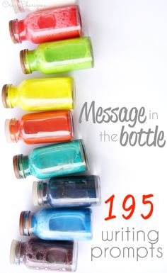 195 Writing Prompts for teens - Message in the Bottle $. Encourage students to develop their writing skills. These cards are perfect for elementary, middle and high school. Find inside short stories starters, opinion, narrative, informative writing, journal prompts, paragraph, essay writing and more | CrazyCharizma at https://www.teacherspayteachers.com/Store/Crazycharizma