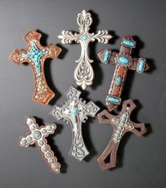 Cross Magnets ~ Set of 6 ~ RB71244