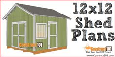 Free shed plans include gable, gambrel, lean to, small and big sheds. Free how to build a shed guide.