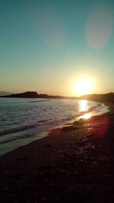 #Summer 2017 sunset at Kyllini Golden Beach I really need to go back there 🌊