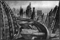 Anton Furst's Gotham Skyline