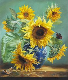 Diamond Painting Sunflower Paintings Flower Paint with Diamonds Art Crystal Craft Decor Sunflower Garden, Sunflower Art, Sunflower Paintings, Watercolor Flowers, Watercolor Paintings, Still Life Art, Bunt, Painting & Drawing, Beautiful Flowers