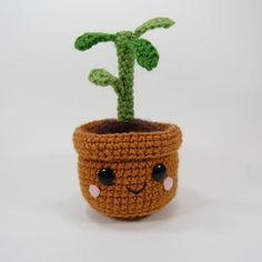 Pull and Grow Amigurumi Plant