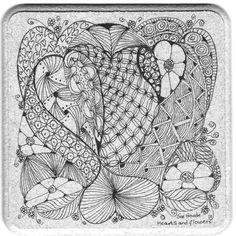 hearts & flowers coaster