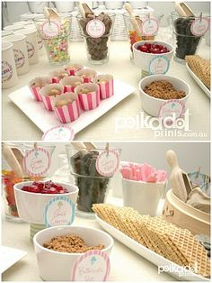 ice cream party - glasses for toppings