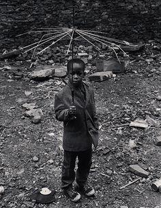 Beuford Smith Boy with Umbrella, 1973