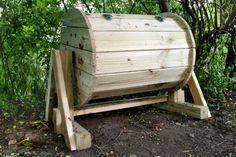 Wood Barrel Compost Bin | DIY Compost Bins To Make For Your Homestead