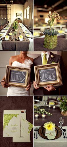 earthy wedding decor | jennifer palamidessi one of my fabulous event producers put so