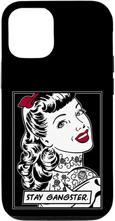 Amazon.com: iPhone 12/12 Pro Stay Gangster Tattooed Ink Vintage Pop Art Girl Funny Quote Case Vintage Pop Art, Vintage Comic Books, Vintage Comics, Retro Vintage, Samsung Galaxy Gift, Samsung Cases, Gangster Tattoos, Feminism Quotes, Pop Art Girl