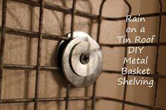 DIY Metal Basket Shelving (With Old Locker Baskets)