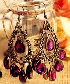 purple .. teardrop .. chandelier... sigh !!