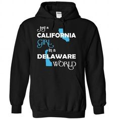 (CAXanh001) Just A California Girl In A Delaware World - #gift card #retirement gift. ORDER HERE => https://www.sunfrog.com/Valentines/-28CAXanh001-29-Just-A-California-Girl-In-A-Delaware-World-Black-Hoodie.html?68278