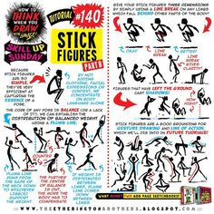 Here's how to THINK when you draw STICK FIGURES tutorial part TWO from yesterday's #SkillUpSunday! HUNDREDS more free tutorials in the…