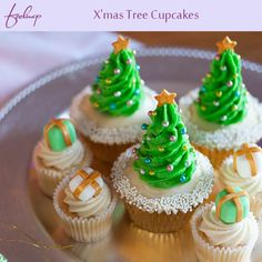 Enthrall your guests with creative Mouth-watering Christmas cup-cakes on #Christmas.