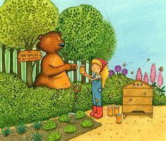 Making Friends with Bear - Children's Illustration by Emma Allen