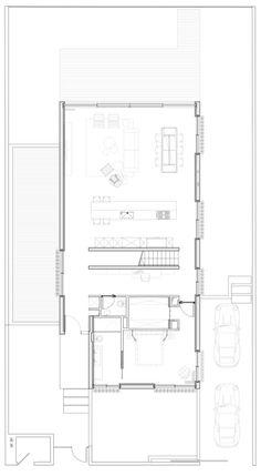 Plano casa dos pisos - primer nivel