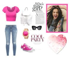 """""""Untitled #2"""" by minela-fehric ❤ liked on Polyvore featuring Frame Denim, Converse, Rebecca Minkoff and Karen Walker"""