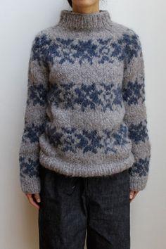 Gudrun & Gudrun ( FAROE ISLANDS ) AYNI INTARSIA SWEATER - ...lancah Icelandic Sweaters, Wool Sweaters, Knit Mittens, Knitted Blankets, Sweater Knitting Patterns, Knitting Designs, Giant Knit Blanket, Faroe Islands, Lana