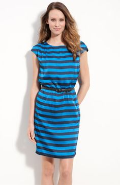 Vince Camuto Bold Stripe Dress from Nordstrom. Not my usual style but I really like it!