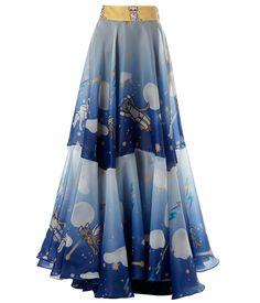 SUPERSWEET x moumi Jackson Skirt (Sample) #CatPrint #catgasus #DesignerCats #blue #BabyBlue #cosmic #CatLover #circular #atmosphere #full #clouds #cat #BritishDesigner #cats #glitter