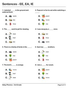 Worksheets Third Grade Phonics Worksheets pinterest the worlds catalog of ideas phonics third grade ee ea and ie series