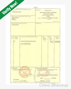 Fumigationdisinfection certificate chinese certificates gsp certificate of origin form a yelopaper Image collections