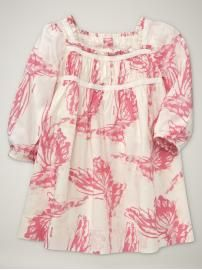 Baby Girl: Shirred Butterfly Dress