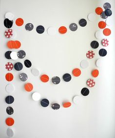 Nautical garland Navy blue red white circle by HoopsyDaisies, $10.00