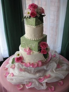 green and pink wedding cakes | Green and Pink Wedding Cake