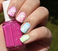 Fancy Friday Geometrisk - geometric nails #geometric #nailart #geometricnails #rijahdk #nails