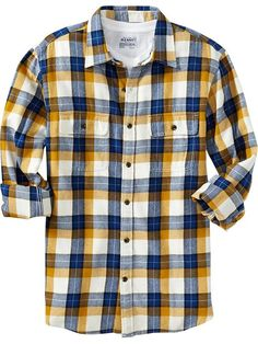 Old Navy | Men's Patterned Flannel ShirtsLove these colors and I bet it's cheap