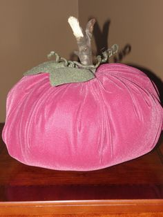 Dark Pink Velvet Pumpkin Pink Halloween, Velvet Pumpkins, Holiday Looks, Pink Velvet, Pretty In Pink, Pink And Green, Cinderella, Shabby, Girly